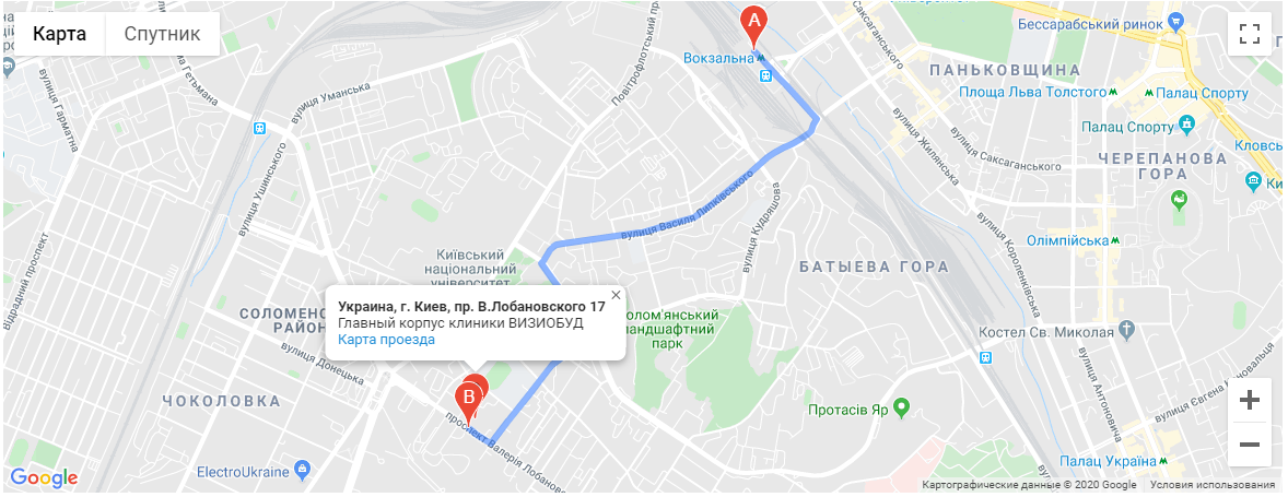 от ст.м «Вокзальная» маршрутный автобус 401 до остановки «ул. Образования».